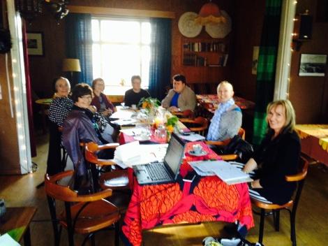 Ekoarki-ryhmän ensimmäinen kokous Vihreällä talolla syyskuussa.